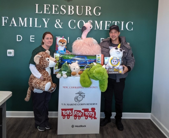 Leesburg Family & Cosmetic Dentistry participated in 2019 Toys for Tots campaign